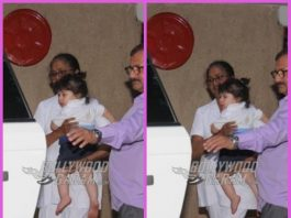 Taimur Ali Khan sports a cute bun at playschool