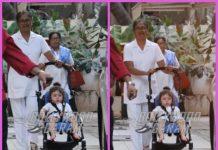 Taimur Ali Khan chills on his stroller at grandmother Babita Kapoor's house