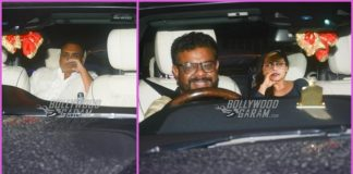 Aditya Chopra and Rani Mukerji visit Karan Johar at his residence