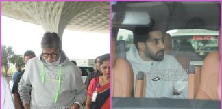 Abhishek Bachchan drops Amitabh Bachchan at airport