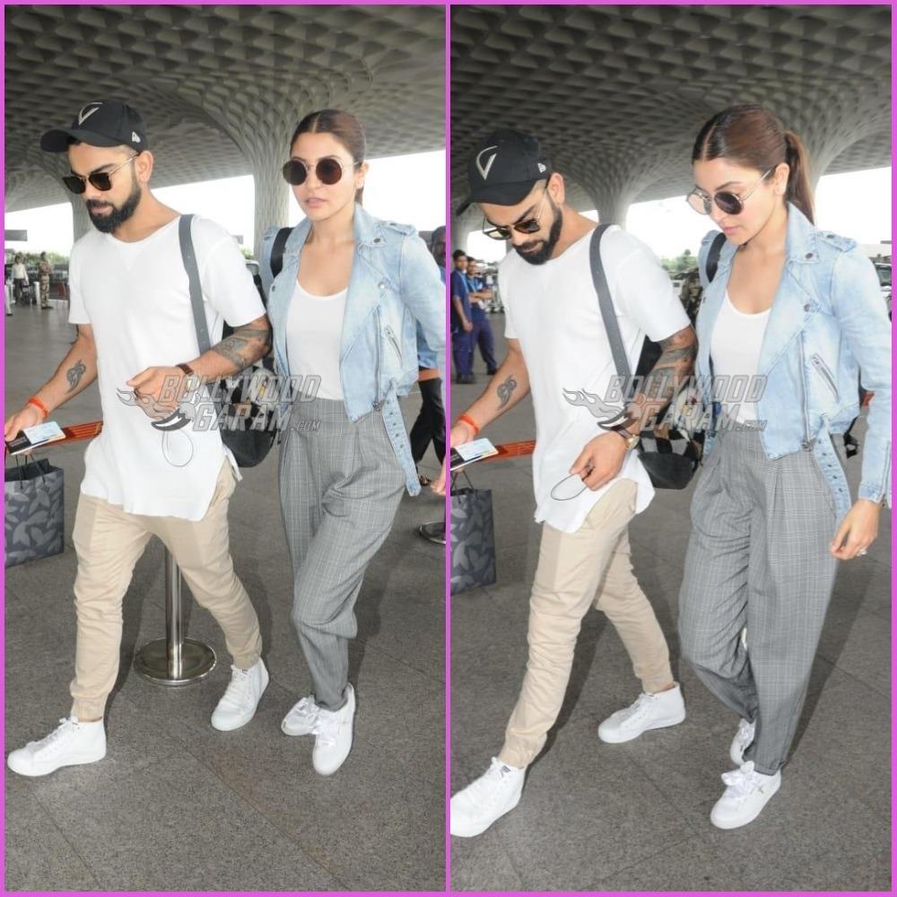 Anushka Sharma And Virat Kohli Make A Style Splash At Airport