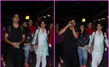 Janhvi Kapoor and Ishaan Khatter return from Jaipur