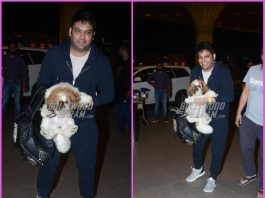 Kapil Sharma travels with his cuddly pet