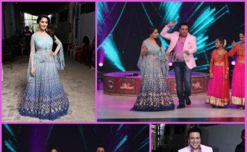 Madhuri Dixit and Govinda have fun on sets of Dance Deewane
