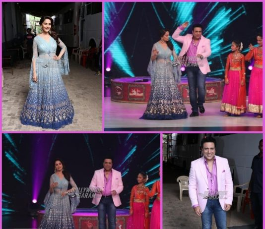 Madhuri Dixit and Govinda have fun on sets of Dance Deewane
