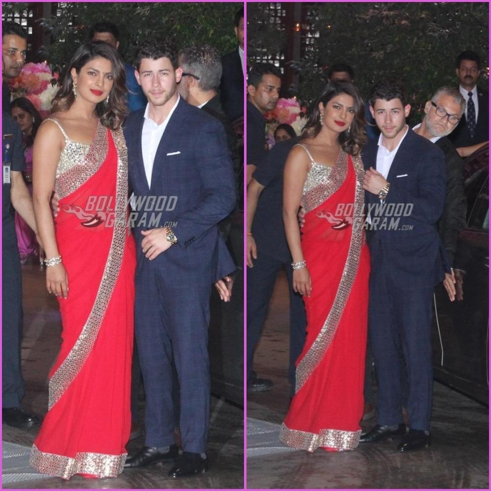 Priyanka Chopra-Nick Jonas arrive hand-in-hand at Akash Ambani 's engagement party