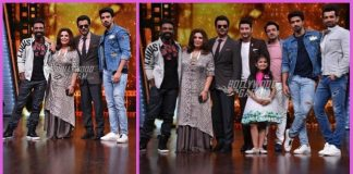 Anil Kapoor and Saqib Saleem promote Race 3 on sets of DID Li'l Champs