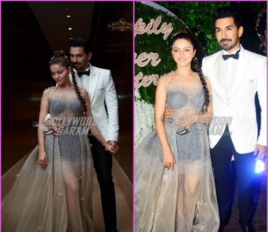 Rubina Dilaik and Abhinav Shukla look dream-like at wedding reception