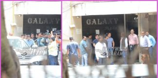 Nitin Gadkari visits Salman Khan and father Salim Khan at his residence