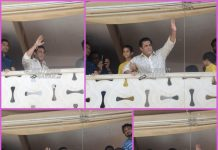 Salman Khan waves to fans on Eid festival
