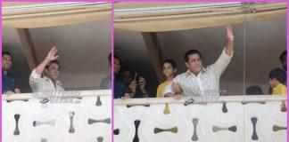 Salman Khan waves to fans on Eid festival