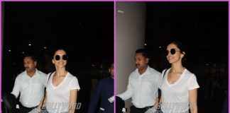 Deepika Padukone returns in a cheerful mood from Hyderabad