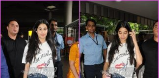 Janhvi Kapoor smiles for paparazzi as she returns from Singapore
