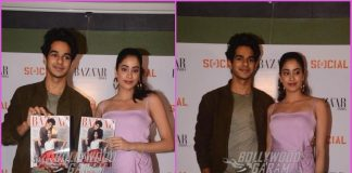 Janhvi Kapoor and Ishaan Khatter look gorgeous at Harper's Bazaar magazine cover launch event