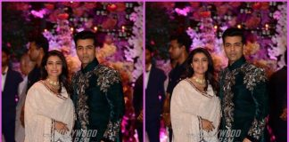 Karan Johar and Kajol arrived together at Akash Ambani and Shloka Mehta's engagement ceremony