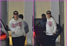 Kareena Kapoor dons the pullover look outside Babita Kapoor's house