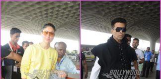 Kareena Kapoor and Karan Johar make a stylish appearance at airport