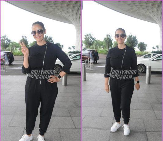 Manisha Koirala makes a pleasant appearance at airport