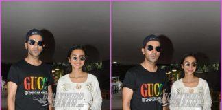 Rajkummar Rao and Patralekha all smiles at airport