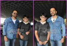 Rohit Shetty and son Ishaan Shetty all smiles and poses at airport