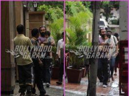 Saif Ali Khan and son Taimur Khan on a casual stroll together