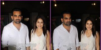 Sagarika Ghatge and Zaheer Khan all smiles post salon session