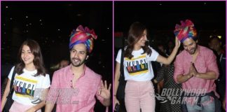 Anushka Sharma and Varun Dhawan return from Jaipur promotions of Sui Dhaaga – Made In India