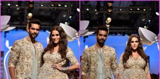 Lakme Fashion Week Winter/Festive 2018 – Neha Dhupia and Angad Bedi walk the ramp together