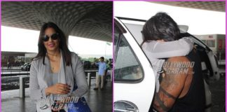 Karan Singh Grover sees off wife Bipasha Basu at airport