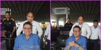 Injured Boman Irani on wheelchair at airport
