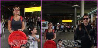 Fardeen Khan seen with wife and children at Mumbai airport