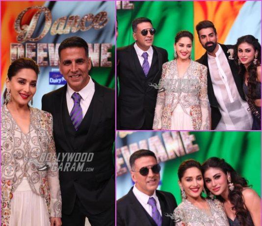 Akshay Kumar and Mouni Roy promote Gold on sets of Dance Deewane