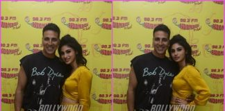 Akshay Kumar and Mouni Roy promote Gold at Radio Mirchi