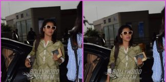 Kajol looks trendy as she heads for another promotional leg of Helicopter Eela