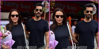 Neha Dhupia and Angad Bedi spend quality time over lunch