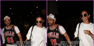 Ranveer Singh and Deepika Padukone walk hand in hand as they return from US