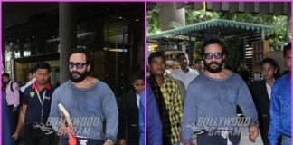 Saif Ali Khan in casuals on a travel schedule
