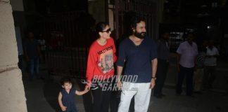 Kareena Kapoor , Saif Ali Khan and son Taimur Ali Khan visit Soha Ali Khan