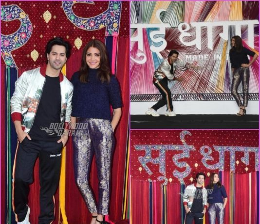 Varun Dhawan and Anushka Sharma launch official trailer of Sui Dhaaga – Made in India