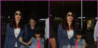 Aishwarya Rai Bachchan and Aaradhya received by Abhishek Bachchan at airport