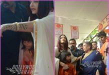 Aishwarya Rai Bachchan and Aaradhya Bachchan mobbed during Ganesh festival visit