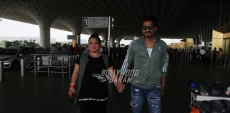 Bharti Singh and Harsh Limbachiyaa walk hand in hand at airport