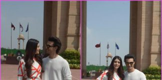 Aayush Sharma and Warina Hussain promote Loveyatri at India Gate