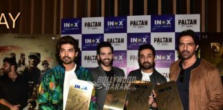 Boys of Paltan promote at a theatre