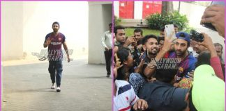 Ranbir Kapoor greets fans outside his residence on his birthday