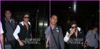 Shah Rukh Khan makes a trendy appearance at airport