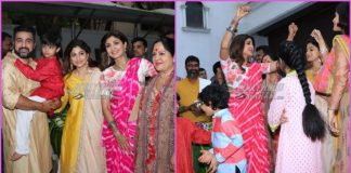 Shilpa Shetty and family enjoy as they conclude Ganesh festivities