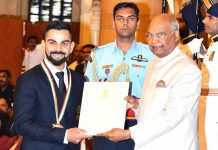 Virat Kohli awarded with Khel Ratna by President Ram Nath Kovind