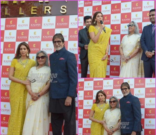 Amitabh Bachchan, Jaya Bachchan and Shweta Bachchan grace Kalyan Jewellers event