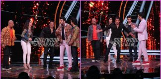 Salman Khan promotes Loveyatri with Aayush Sharma and Warina Hussain on sets of Indian Idol